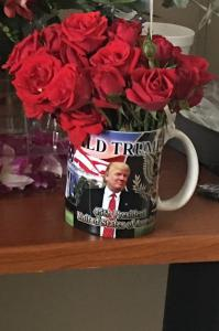 45th President DJT cup with roses TYJ