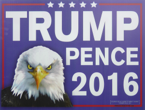 Sign 1- Trump Pence