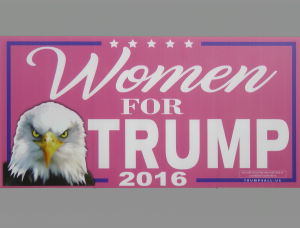 Sign 3 - Women for Trump
